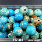 Jaspe Blue Sea boule percée 9 mm