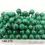 Malachite AA, boule percée 6 mm