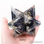 Merkaba Orgonite Tourmaline -  Sélénite  5,8 - 6,2 cm, XL