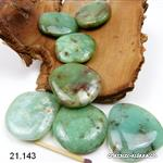 Chrysoprase plate 3,6 - 4 cm. Taille XL. OFFRE SPECIALE