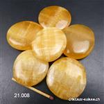 Calcite orange plate 4 - 4,5 cm. Taille XL