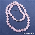 Collier noué Quartz Rose 8 mm / 50 cm