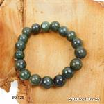 Bracelet Jadéite - Jade noble, boules 10 - 11 mm, élastique 17,5 cm. Taille S-M