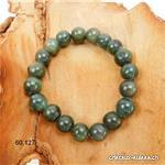Bracelet Jadéite - Jade noble, boules 10 - 11 mm, élastique 18,5 cm. Taille M