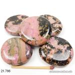Rhodonite plate env. 4 - 4,5 cm. Taille XL