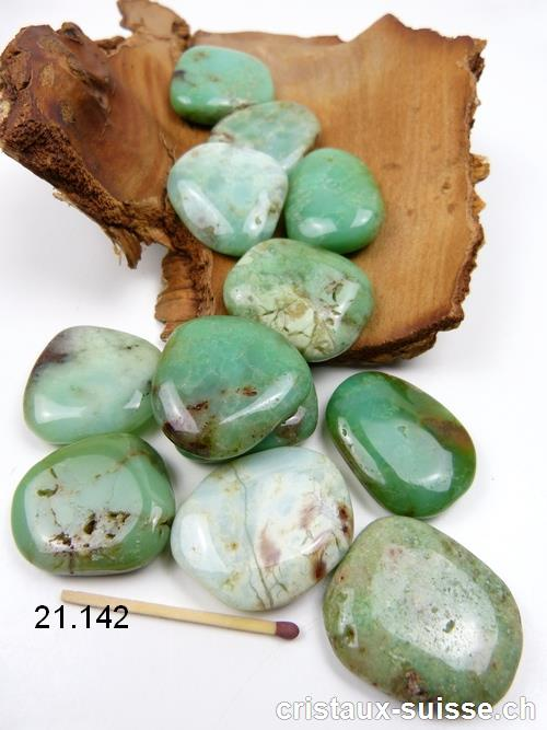 Chrysoprase plate 3,3 - 4 cm. Taille L - XL. OFFRE SPECIALE