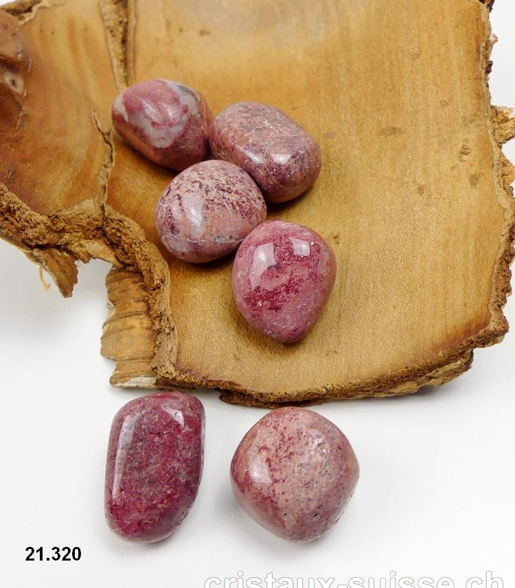 Thulite ( zoïsite rouge ) forme libre. Taille L